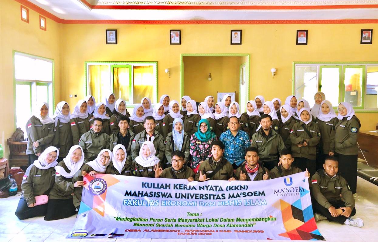 Jajaran Instansi Ds. Alam Endah Ciwidey Sambut Baik KKN Mahasiswa Ma'soem University