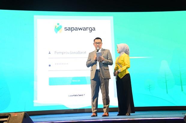Gubernur Ridwan Kamil Luncurkan Aplikasi Layanan Publik Sapawarga